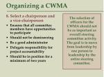 organizing a cwma40