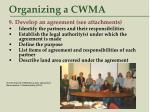 organizing a cwma41