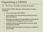 organizing a cwma44
