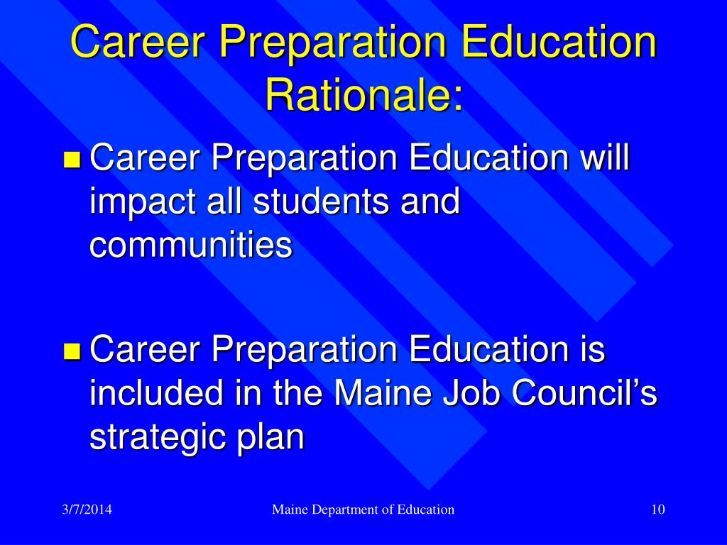 Career Preparation Education