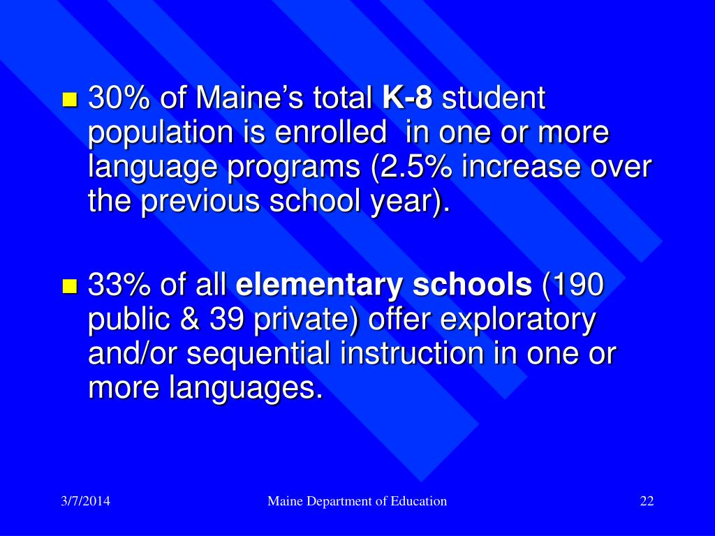 30% of Maine's total