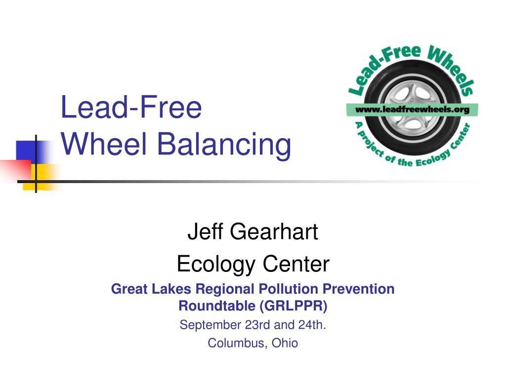 lead free wheel balancing l.