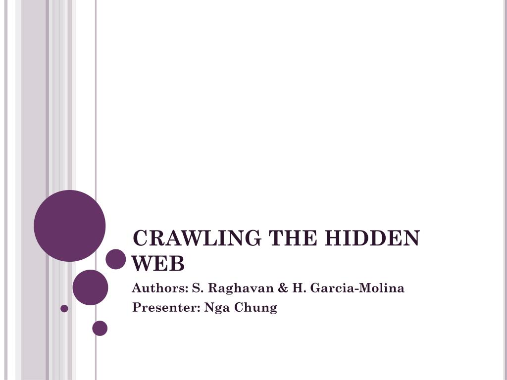 crawling the hidden web l.