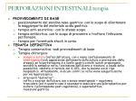perforazioni intestinali terapia