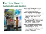 the helix phase ii systematic application52