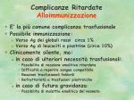 complicanze ritardate alloimmunizzazione