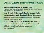 la legislazione trasfusionale italiana6