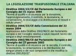 la legislazione trasfusionale italiana8