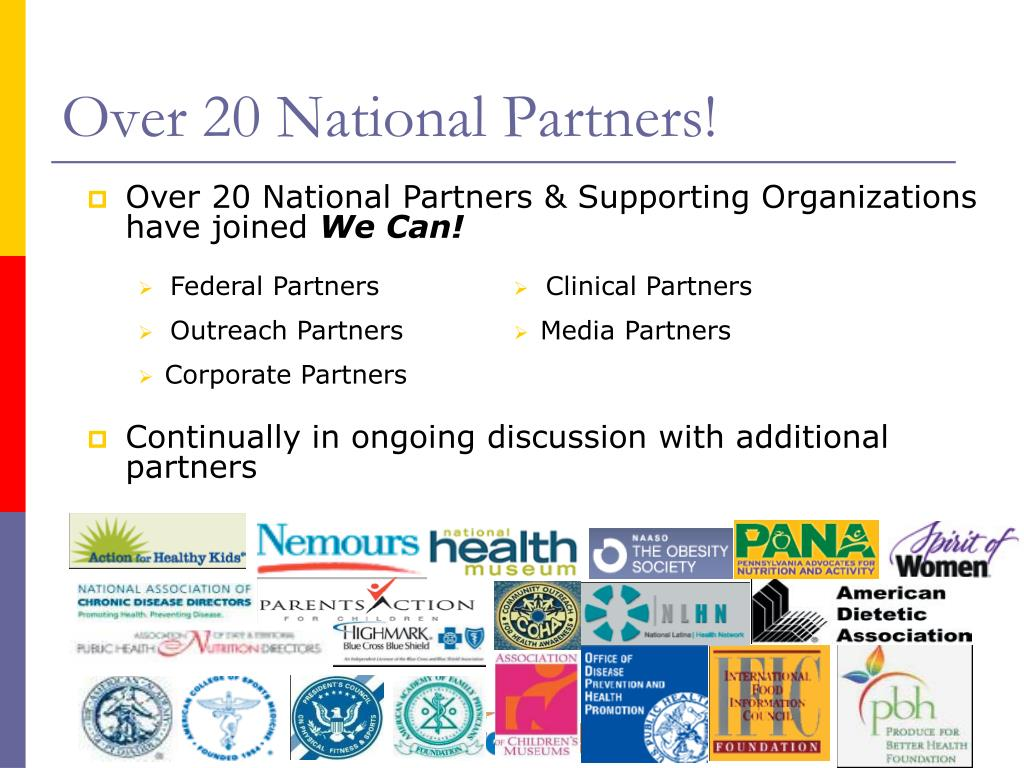 Over 20 National Partners!