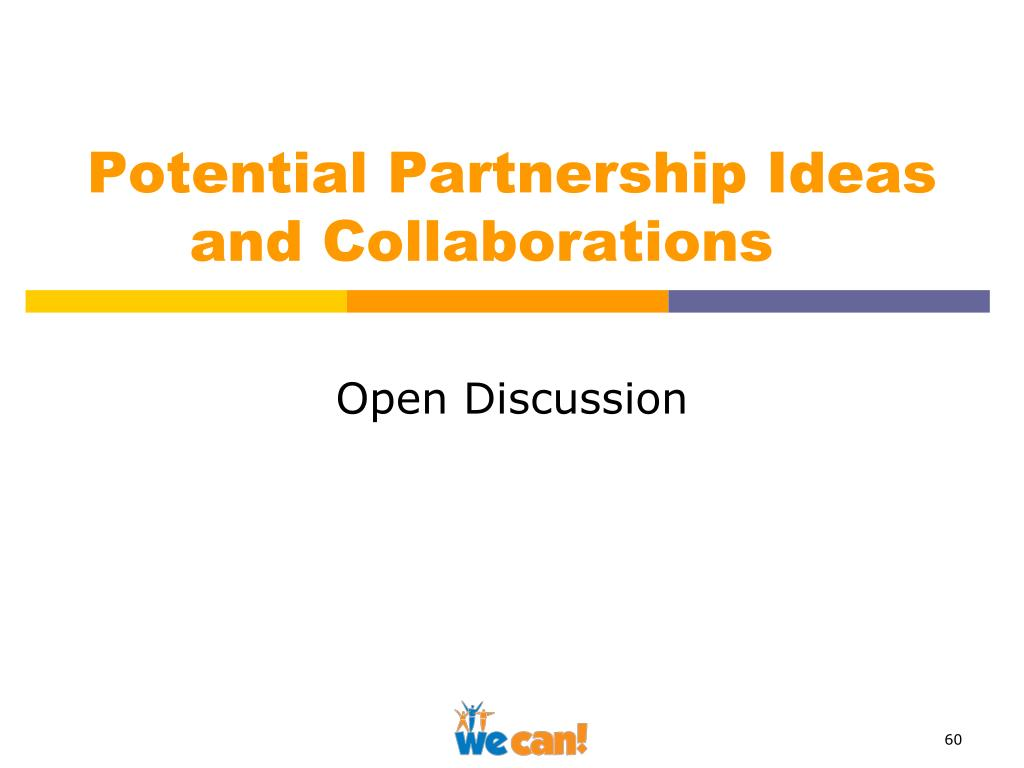 Potential Partnership Ideas 	and Collaborations