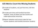 a2s metrics count the missing students
