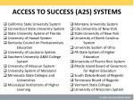 access to success a2s systems