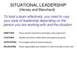 situational leadership hersey and blanchard