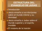 estructura del evangelio de judas