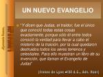 un nuevo evangelio
