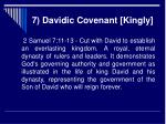 7 davidic covenant kingly