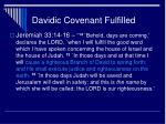 davidic covenant fulfilled