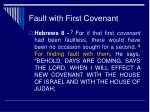 fault with first covenant