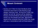 mosaic covenant