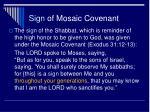 sign of mosaic covenant