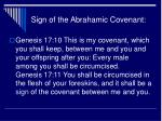 sign of the abrahamic covenant