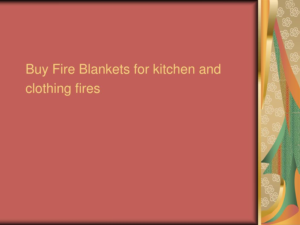 buy fire blankets for kitchen and clothing fires l.