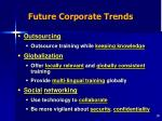 future corporate trends