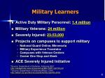 military learners