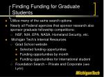 finding funding for graduate students