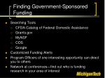 finding government sponsored funding1