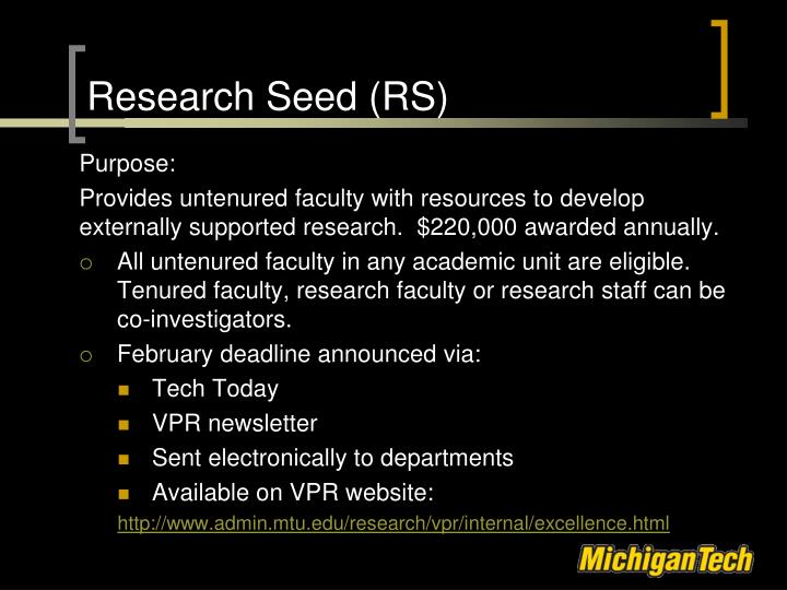 Research Seed (RS)