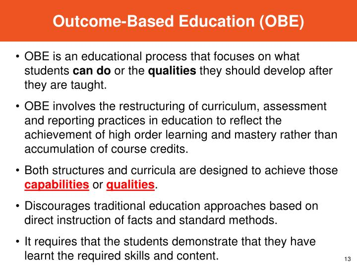 Outcome-Based Education (OBE)