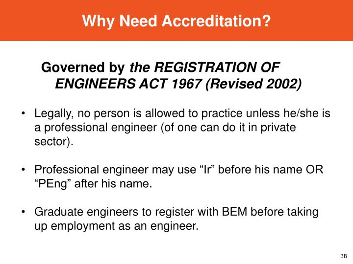 Why Need Accreditation?