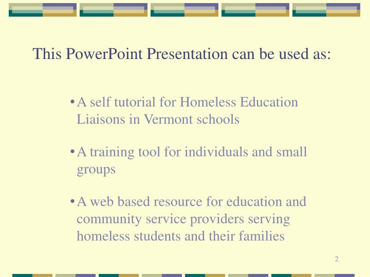 This powerpoint presentation can be used as