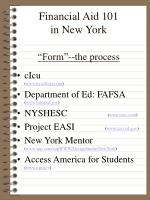 financial aid 101 in new york form the process