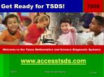 get ready for tsds