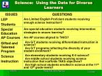 science using the data for diverse learners