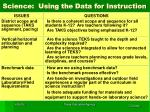 science using the data for instruction