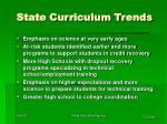 state curriculum trends