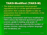 taks modified taks m