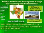 teacher professional development through the texas regional collaboratives