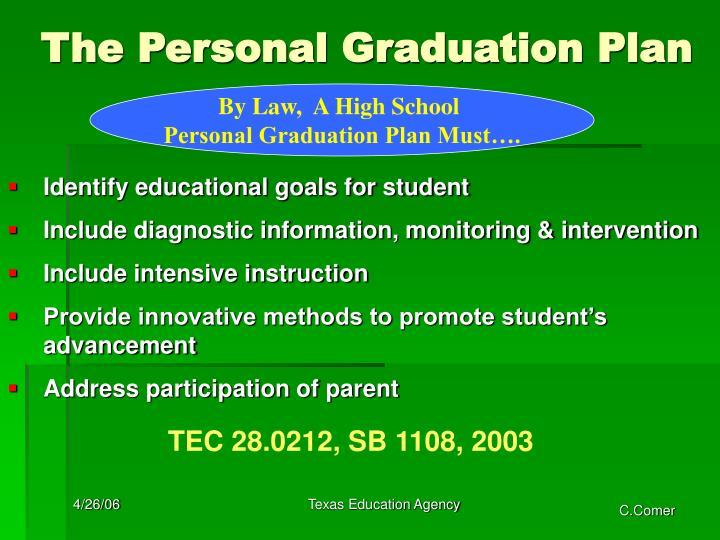 The Personal Graduation Plan