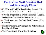 the evolving north american beef and pork supply chain