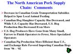 the north american pork supply chain comments