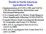 trends in north american agricultural trade