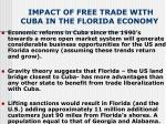 impact of free trade with cuba in the florida economy