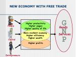 new economy with free trade