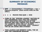 summary of economic message