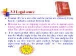 3 3 legal sence