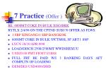 7 practice offer
